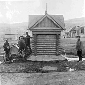 Первая водоразборная будка в Камышине